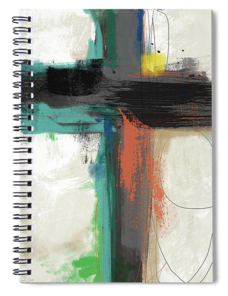Contemporary Cross 2- Art By Linda Woods Spiral Notebook