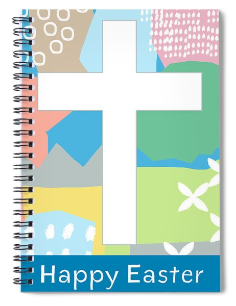 Contemporary Easter Cross- Art By Linda Woods Spiral Notebook