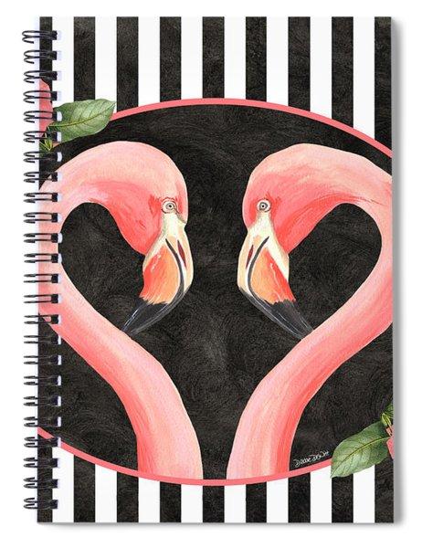 Contemporary Flamingos 1 Spiral Notebook