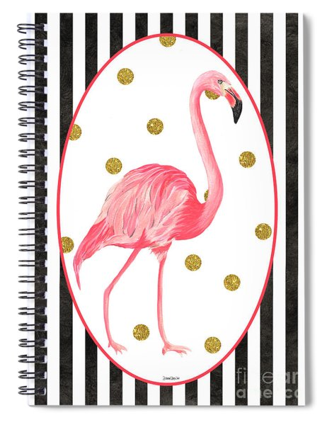 Contemporary Flamingos 2 Spiral Notebook