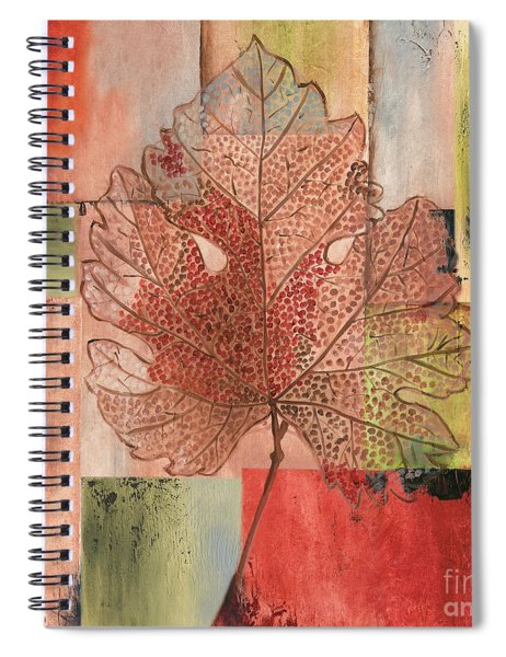 Contemporary Grape Leaf Spiral Notebook