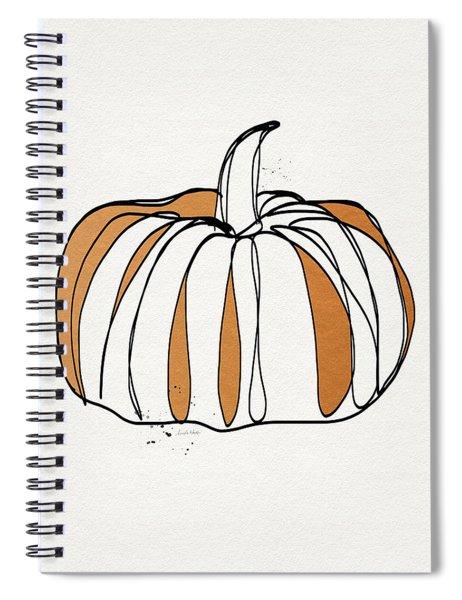 Contemporary Pumpkin- Art By Linda Woods Spiral Notebook