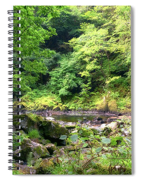 Conwy Waterall Snowdonia Wales Journey Of Mountains Spiral Notebook