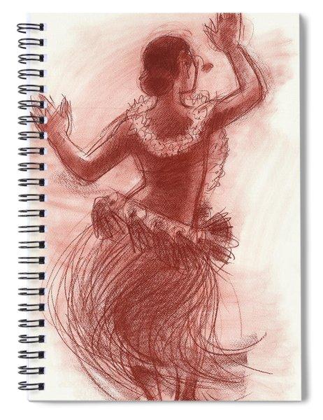 Cook Islands Drum Dancer From The Back Spiral Notebook