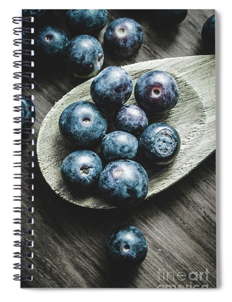 Cooking With Blueberries Spiral Notebook