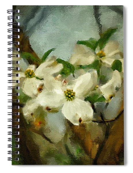 Cool Breeze Painterly Spiral Notebook