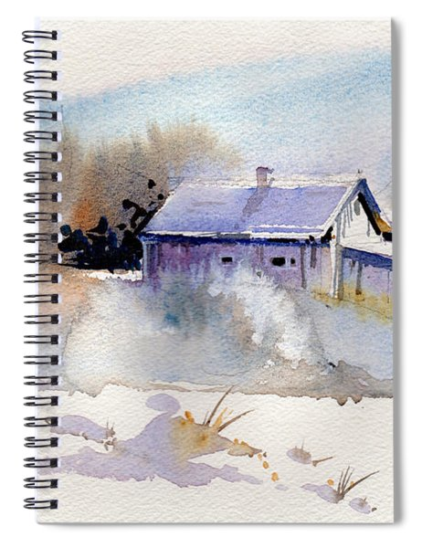 Cool Country Barn Spiral Notebook