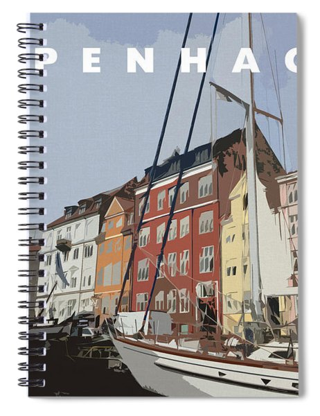 Copenhagen Memories Spiral Notebook
