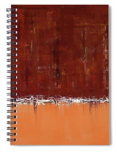 Copper Field Abstract Painting Spiral Notebook
