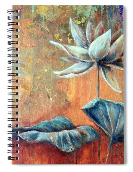 Copper Lotus Spiral Notebook