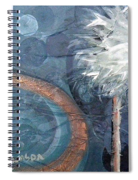 Copper Swirl Horizon Palm Spiral Notebook