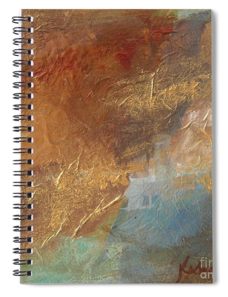 Copper Turquoise Abstract Spiral Notebook