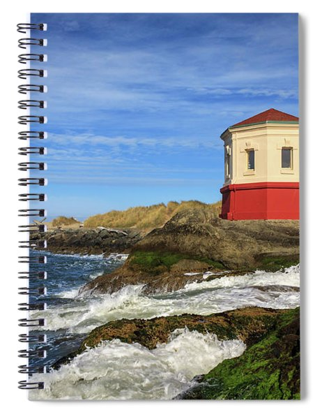 Coquille River Lighthouse At Bandon Spiral Notebook