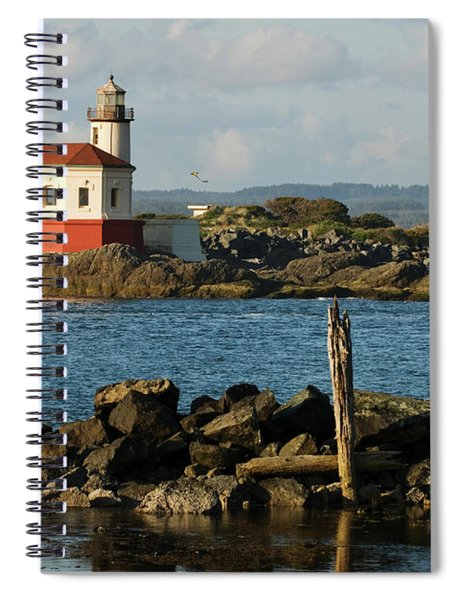 Coquille River Lighthouse Bandon Oregon Spiral Notebook