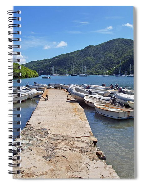 Coral Bay Dinghy Dock Spiral Notebook