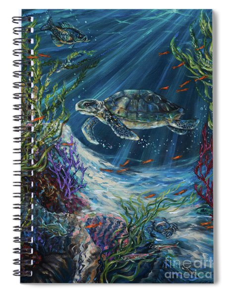 Coral Reef Turtle Spiral Notebook