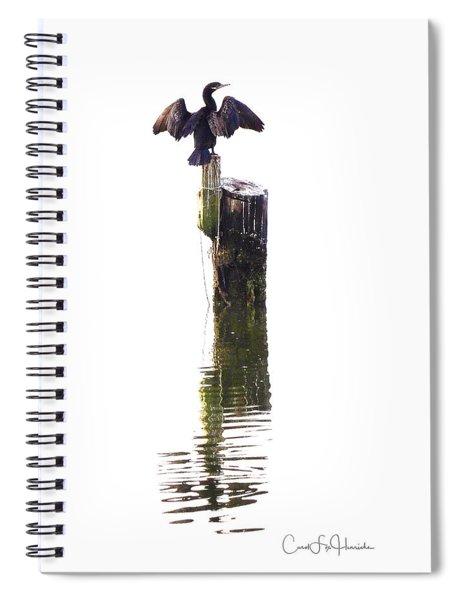 Cormorant Sunning Spiral Notebook