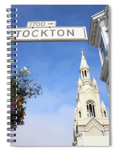 Corner Of Stockton-  By Linda Woods Spiral Notebook