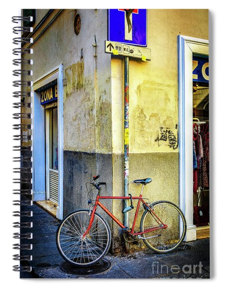Corner Zone Bicycle Spiral Notebook