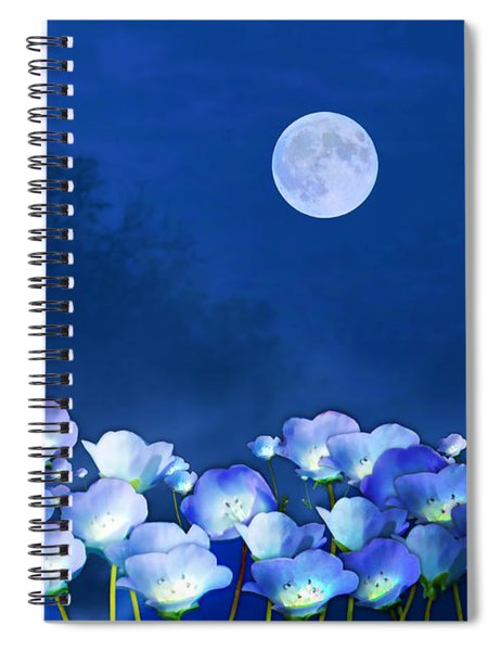 Cornflowers In The Moonlight Spiral Notebook
