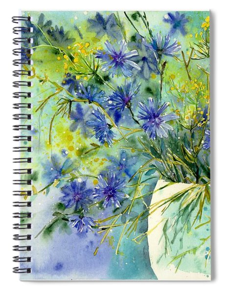 Cornflowers Symphony Spiral Notebook