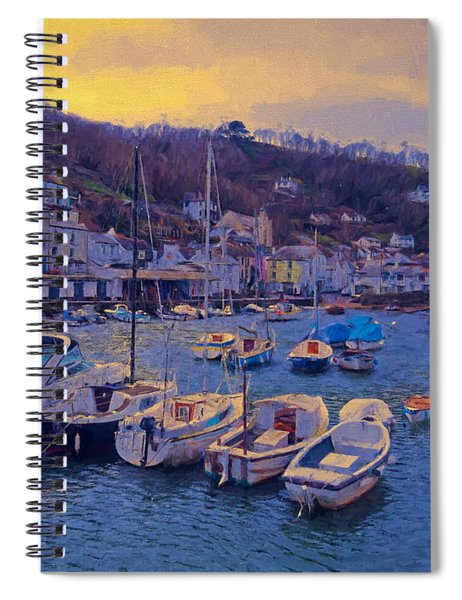 Cornish Fishing Village Spiral Notebook by Paul Gulliver
