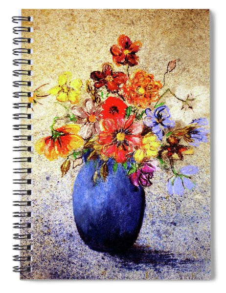 Cornucopia-still Life Painting By V.kelly Spiral Notebook by Valerie Anne Kelly