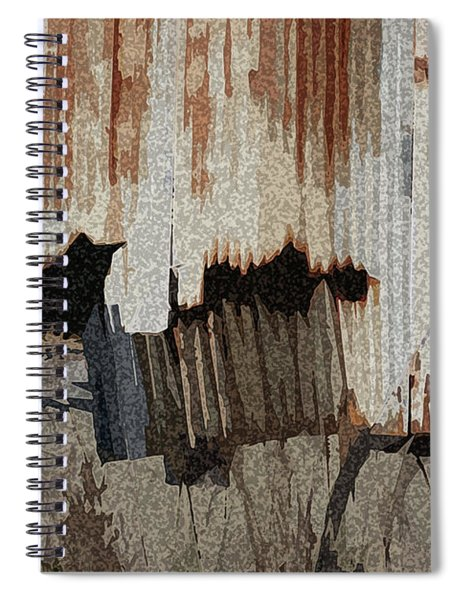Corrugated Tin Abstract Spiral Notebook