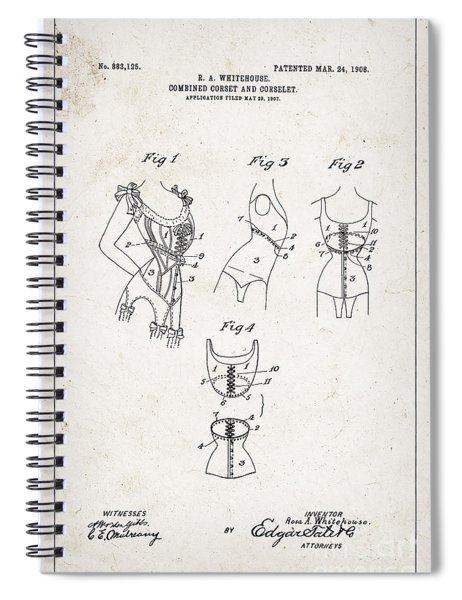 Corset Patent From 1908 Spiral Notebook