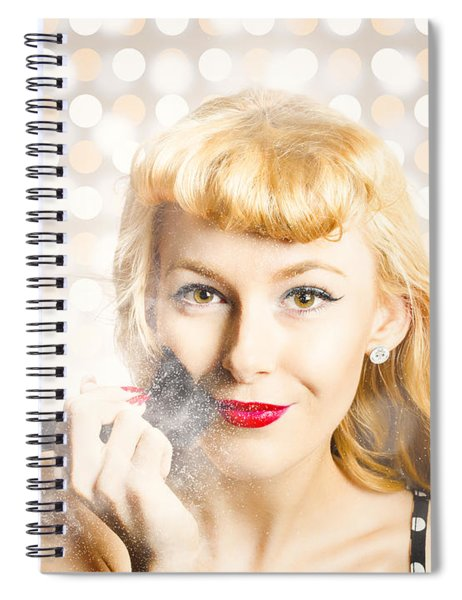 Cosmetics Makeover Pin Up Spiral Notebook