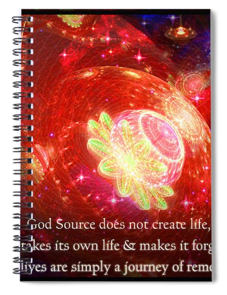 Cosmic Inspiration God Source 2 Spiral Notebook