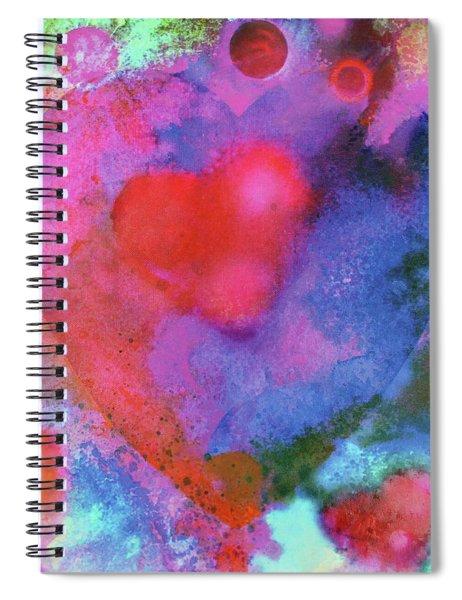 Cosmic Love Spiral Notebook