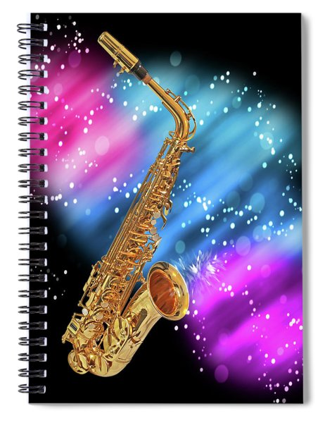 Cosmic Sax Spiral Notebook