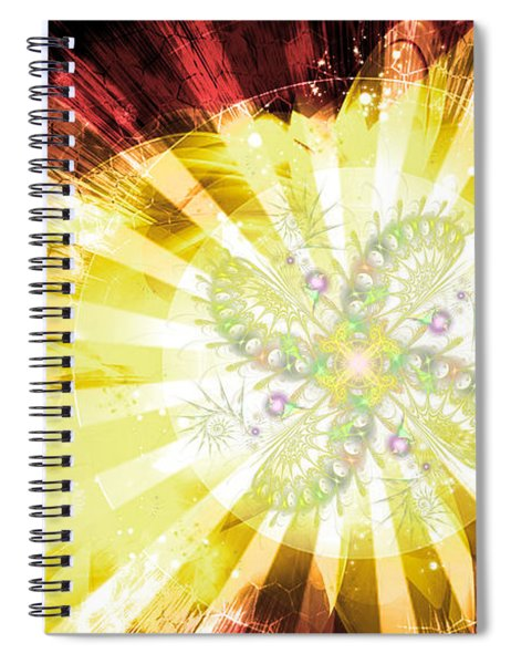 Cosmic Solar Flower Fern Flare 2 Spiral Notebook