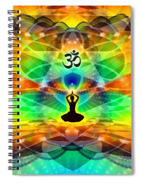 Cosmic Spiral 69 Painted Spiral Notebook by Derek Gedney