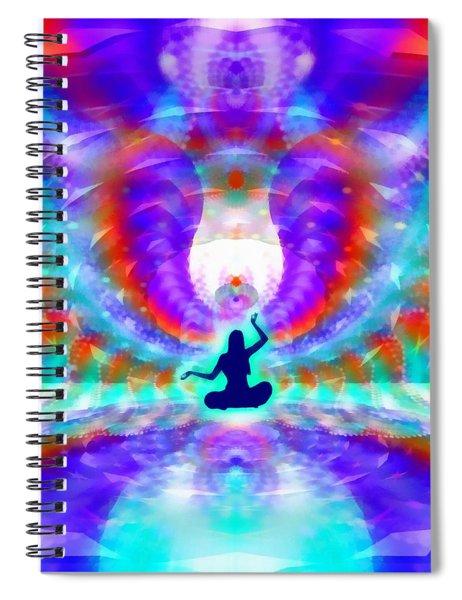 Cosmic Spiral 72 Painted Spiral Notebook by Derek Gedney