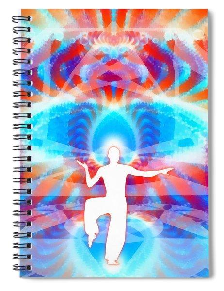 Cosmic Spiral 77 Painted Spiral Notebook by Derek Gedney