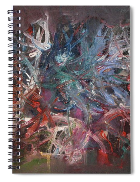 Spiral Notebook featuring the painting Cosmic Web by Michael Lucarelli