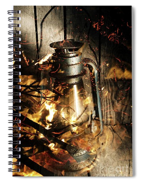 Cosy Open Fire. Cottage Artwork Spiral Notebook