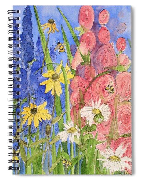 Cottage Garden Daisies And Blue Skies Spiral Notebook