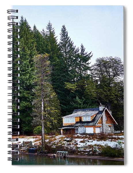 Little Cottage And Pines In The Argentine Patagonia Spiral Notebook