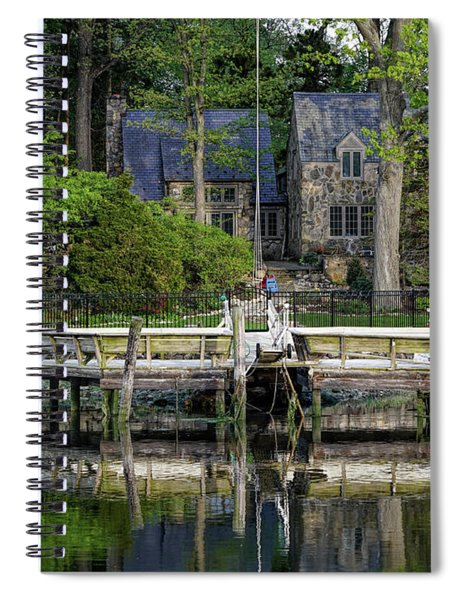 Cottage On Saugatuck River Ct By Mike-hope Spiral Notebook