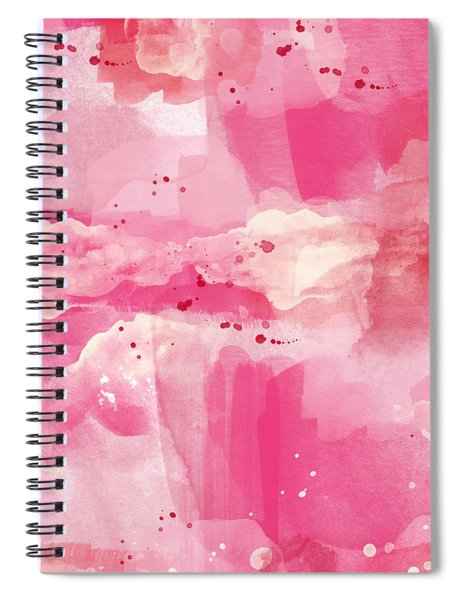 Cotton Candy Clouds- Abstract Watercolor Spiral Notebook