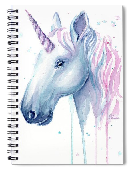 Cotton Candy Unicorn Spiral Notebook