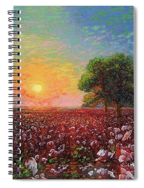 Cotton Field Sunset Spiral Notebook