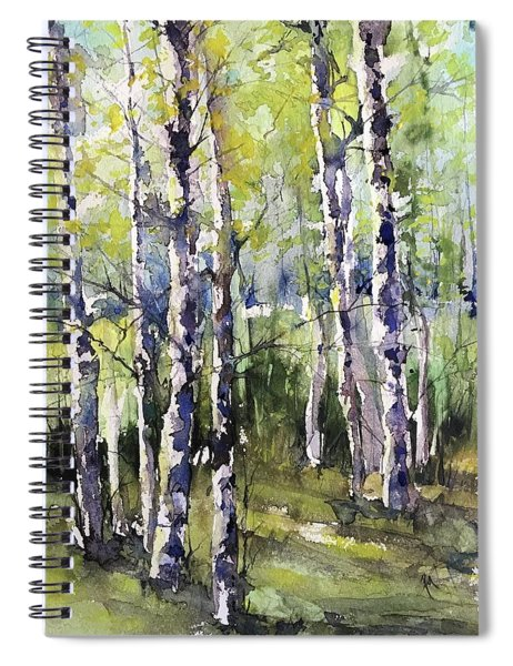 Cottonwoods And Sycamores Spiral Notebook