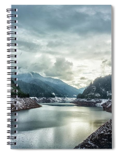 Cougar Reservoir On A Snowy Day Spiral Notebook