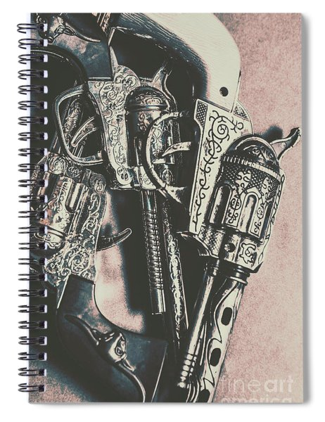 Country And Western Pistols Spiral Notebook