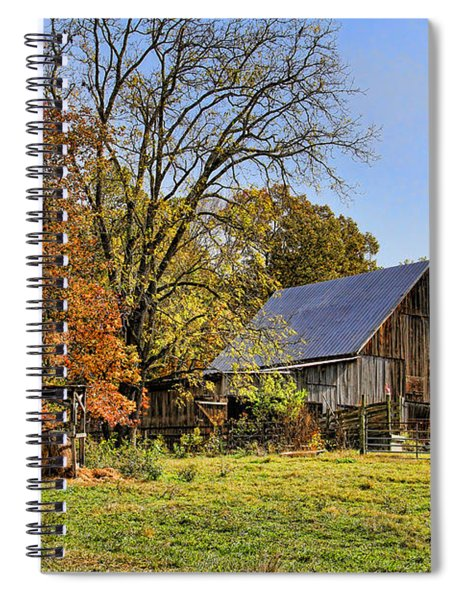 Country Barn And A Pink Flamingo By H H Photography Of Florida Spiral Notebook