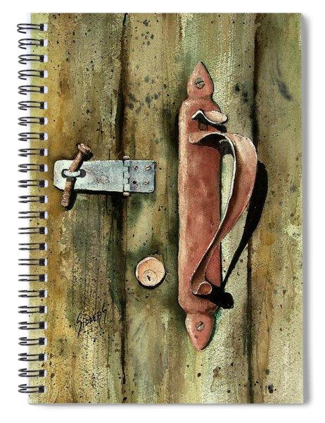 Country Door Lock Spiral Notebook